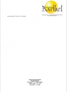 Briefpapier Barthel