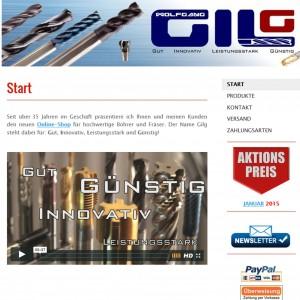 Webseite Gilg